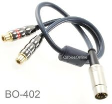 1ft 7-Pin Din Male to 2-RCA Female Jumper Cable for Bang &Olufsen (B&O) Systems