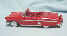 1958 Convertible Chevrolet Impala Diecast Model Car Red 1:24 Scale  MotorMax