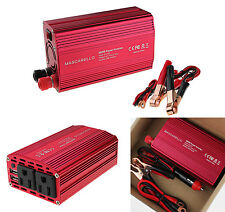 300W Dual DC 12V to 110V AC Outlets Power Inverter Car Adapter 2 USB Port
