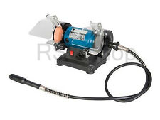 Mini Bench Grinder with Flexible Shaft 75mm - 18 Pieces Set Kit 3 Year Warranty