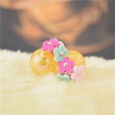 Girls Transparent Double Sided Flower Candy Colored Pearl Stud Earrings Color 17