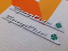 Coppia Logo Fregio badge Sportiva quadrifoglio verde MiTo Giulietta Alfa Romeo