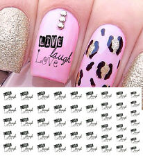 """Live Laugh Love"" Nail Art Waterslide Decals - Salon Quality!"