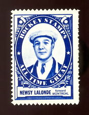 1961/62 TOPPS NHL HOCKEY INSERT STAMP NEWSY LALONDE EX+ OTG MONTREAL CANADIENS