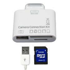 USB Camera Connection Kit SDHC TF SD Card Reader Adaptor for Apple iPad2 3