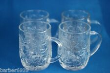 FANTASIA CLEAR MUGS BY PRINCESS HOUSE SET OF 4-XCL