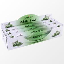 Genuine éléments indien encens ~ white sage ~ 6 hex boîtes de 20 ~ vendeur britannique