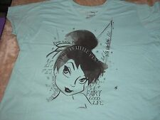 4XL Tinkerbell Blue Fairy Good Life Disney Tee Shirt NWT