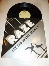 "RAZE - Let The Music Move U - 1987 UK 3-track 12"" single"