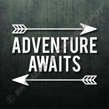Adventure Awaits Bumper Sticker Vinyl Decal Car Truck Sticker Hiking Camping