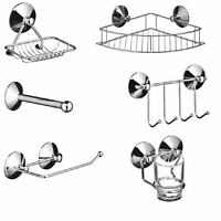 Bathroom Accessories In High Quality Chrome Stylish With Suction Fixing New