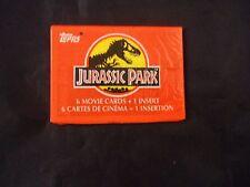 Jurassic Park Topps Trading Card Pack (6 Movie Cards 1 Insert) Jurasic Jurrassic