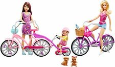 Barbie Skipper and Chelsea Camping Fun Dolls With Bikes & Accessories