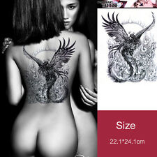 phoenix in fire sexy woman large back temporary tattoo sticker 93a