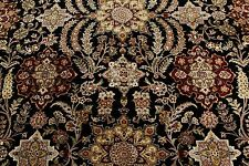 9x12 Wool And Silk Hand Knotted Super Fine Persian Oriental Area Rug 9x12 Black
