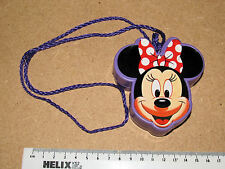 1990s DISNEY MINNIE MOUSE JACKS GAME IN PURPLE NECKLACE CASE 16 JACKS 2 BALLS