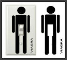 FIVE (5) Viagra Light Switch Decals  - FREE SHIP - Ships same or next day!