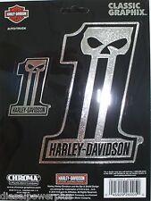 harley davidson motorcycle HD #1 decal sticker chrome willie g SKULL logo emblem