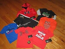 NWT UNDER ARMOUR BABY BOYS 12M MONTHS 7PC HOODIE, PANTS & SHIRTS OUTFIT SETS LOT