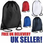 BAG DRAWSTRING BACKPACK WATERPROOF GYM PE SWIM SCHOOL DANCE SPORT BOYS GIRL NEW