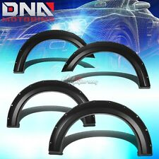 FOR 04-08 F150 REG/EXT/CREW TRUCK FENDER WHEEL FLARES RIVET BLACK ABS PLASTIC