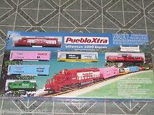 PUEBLOXTRA MILLENNIUM 2000 EXPRESS HO SCALE TRAIN SET W/TRACK &  PACK NIBOX