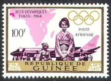 Guinea 1964 Olympic Games/Sports/Planes/Aircraft/Aviation/Transport 1v (n41637)