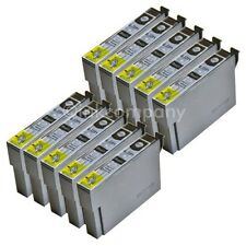 10 Compatibles Cartouches d'encre Noir pour l'imprimante Epson sx130 s22