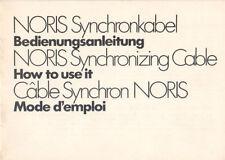NORIS Synchronkabel - Bedienungsanleitung  B1877
