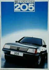 Peugeot 205 Sales Brochure - August 1986 Includes GTI and Cabriolet. #