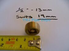 "Brass Radiator Air Bleeding Valve 1/2"" / 13mm *TO SUIT 19mm RADIATOR HOLE*"