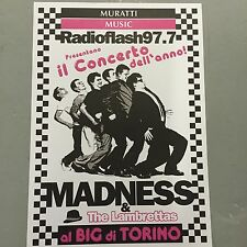 MADNESS + THE LAMBRETTAS - CONCERT POSTER - RADIOFLASH JULY 1997  (A3 SIZE)