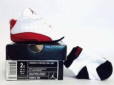 Brand New Nike Air Jordan 13 Retro Low (CB) Crib White Red XIII 2c