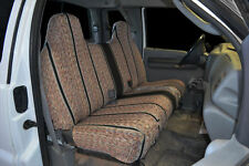 1995-2007 Ford F-150 F-250 F-350 Bench CUSTOM BLACK SADDLE BLANKET SEAT COVERS