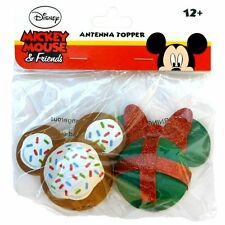 Mickey Mouse Cookie and Minnie Mouse Christmas Gift Antenna Toppers [2 PACK]