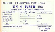 ZS 6 BMD Johannesburg. Westdene. DlIDH 1968  JD.891