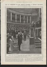 1919 U S PRESIDENT IN THE FRENCH CHAMBER A UNIQUE OCCASION