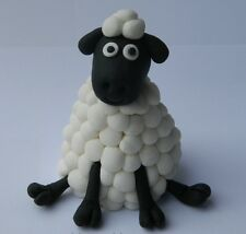 edible 3D SHEEP CAKE DECORATION farm BARNYARD topper SHAUN green ANIMAL baby