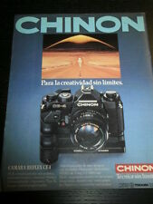 CHINON CE-4 REFLEX  CAMERA CAMARA PHOTO -  AD PUBLICITE ANUNCIO - SPANISH - 0750