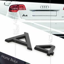 MATTE BLACK A4 REAR BOOT TRUNK LOGO LETTER EMBLEM BADGE FOR AUDI QUATTRO S LINE
