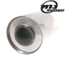 """Universal Scarico Silenziatore 5 """"Diametro X 3"""" foro x 12 Pollici lungo in acciaio INOX"""