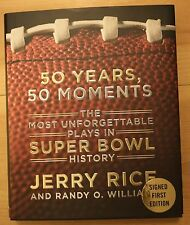 50 Years, 50 Moments by Jerry Rice Signed First Edition Autographed Auto