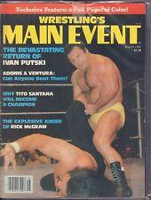 Wrestling's Main Event August 1982 Ivan Putski, Tito Santana VG 072716DBE