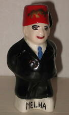 "1957 Odd Fellows / Shriners Ceramic Figurine - 3.75"" Tall - Personalized FREE Sh"