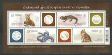 Canada 2006 Fox/Snake/Lizard/Animals 4v m/s (n24942)