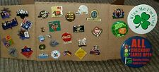Large Lot of Mixed Vintage Lapel, Hat Pins, Buttons, Olympics, Coca Cola, US