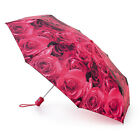 Fulton Open & Close 4 Umbrella - Rose Red