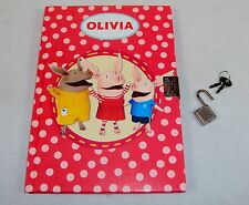Olivia Lock Diary For Girls ~ Olivia & Friends, 75 Pages, Hardbound, Lock & Keys