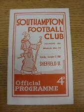 12/11/1960 Southampton v Sheffield United (plegado). este artículo está en muy buena C