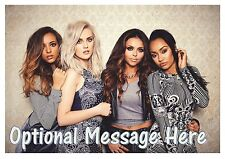 Little Mix Personalised A4 Iced / Icing / Frosting Cake Topper Edible Wallpaper